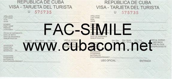 Visto turistico Cuba