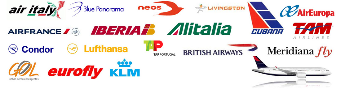 air italy, blue panorama, neos, livingstone, cubana, air europa, air france, iberia, alitalia, tam, condor, lufthansa, tap, british airways, meridiana, gol, eurofly, klm