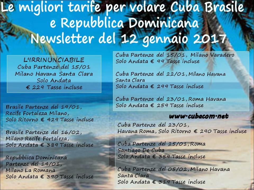 Voli per Havana Santa Clara voli Brasile Voli Repubblica Dominicana