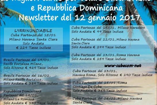 Da Milano Malpensa Roma Fiumicino per volare a Cuba Brasile e Repubblica Dominicana
