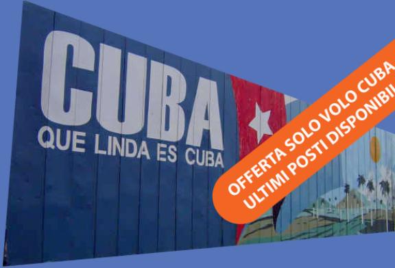 Offerte solo volo Cuba ottobre. Ultimi posti!