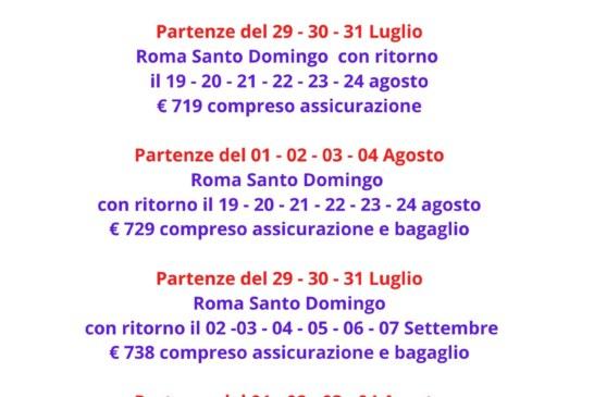 Voli per Santo Domingo Las Americas da Roma