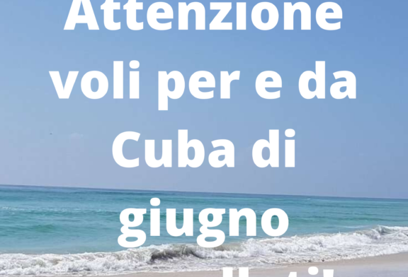 Voli per e da Cuba cancellati a giugno