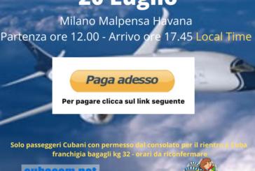 Milano Malpensa Havana clicca paga adesso