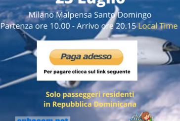 Milano Malpensa Santo Domingo clicca paga adesso