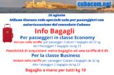 Tariffe bagagli Cuba voli speciale
