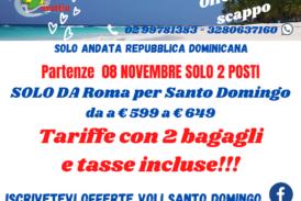 Parti per Santo Domingo da Roma e Milano!