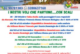 I nostri voli Cuba Repubblica Dominicana e Brasile che partono con scali