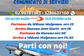 Volo speciale diretto neos air per e da Cuba e Messico