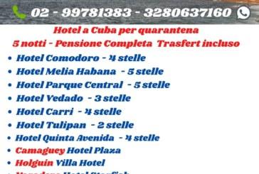 Hotel Cuba pacchetto isolamento 5 notti