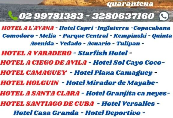 Lista hotel quarantena a Cuba